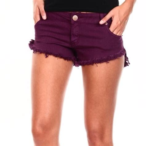 colored denim shorts cotton on cutoff burgundy colored denim shorts from