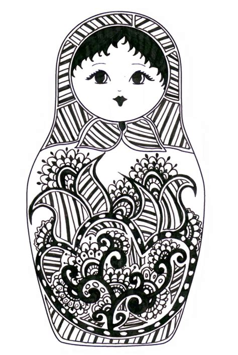 matryoshka coloriage schule pinterest coloring