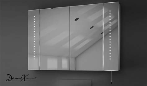 led bathroom mirror cabinet hatha led illuminated battery bathroom mirror cabinet with