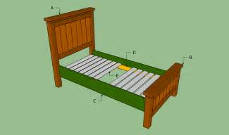 Bed Frame Diy Plan Bed Frame Plans Bed Plans Diy Blueprints