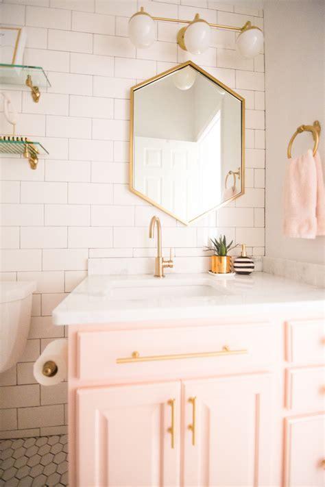 Modern Glam Blush Girls Bathroom Design   CC and MIke