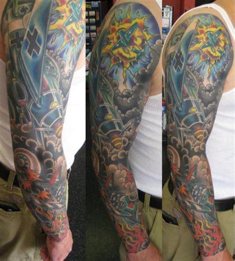 flugzeug sleeve tattoo von lone star tattoo