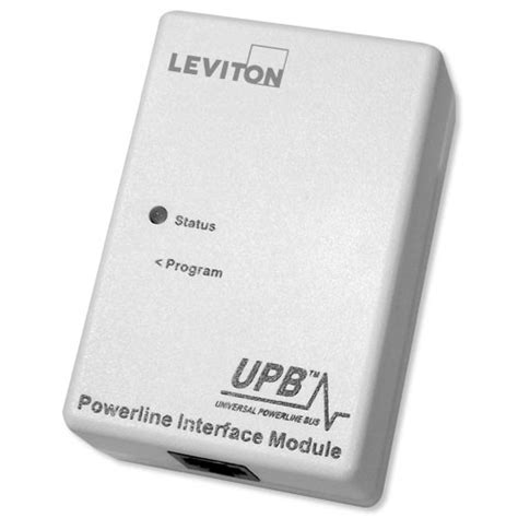 leviton upb powerline interface module pim cable