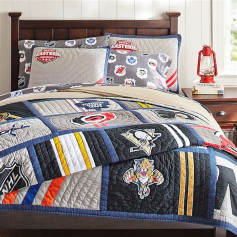 hockey bed 2014 nhl 169 quilt sham pbteen
