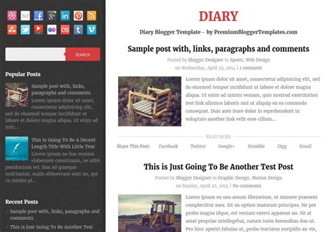 blogger themes diary diary personal blogger template free graphics free