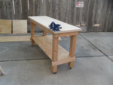 building work bench building plans garage workbench