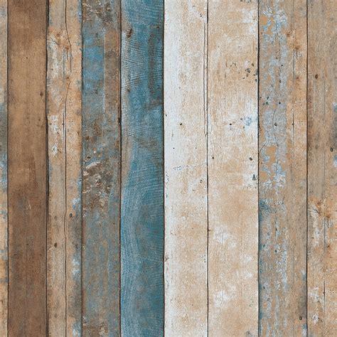 Vintage wood wallpaper rolls turquoise blue sand brown wooden plank murals home ebay