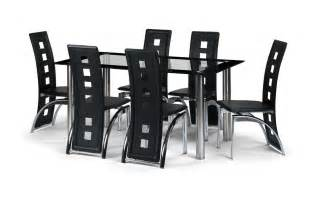 Black Glass Dining Table And 4 Chairs Black Glass Dining Room Table Set And With 4 6 Or 8 Faux