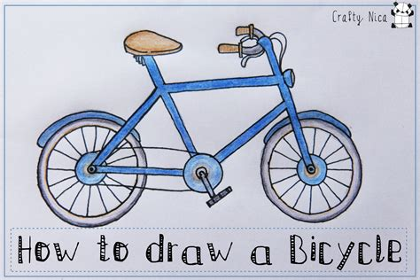 How To Make A Paper Bike Step By Step - how to draw a bicycle bike easy drawing tutorial for