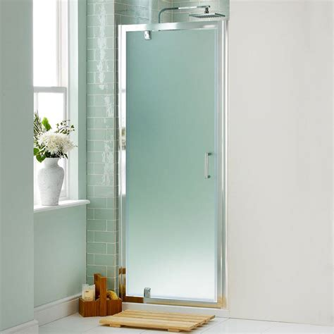 Modern Minimalist Bathroom Design With Frosted Glass Bathroom Shower Glass Doors