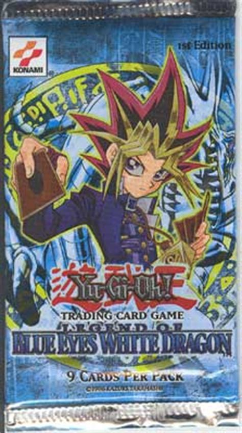 Yugioh Blue White Pack Original yugioh lob bewd 1st edition legend of blue white booster pack extremely out of