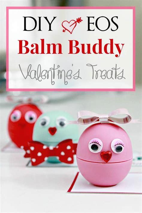 valentines day gift diy eos balm buddies valentine treats with free printable