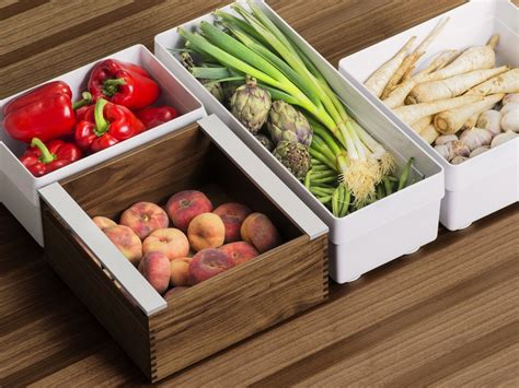 Food Storage Drawers by B3 Interior System Synthetic Material Food Storage Box By
