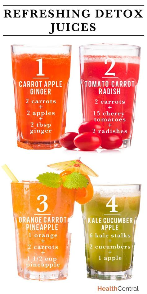 Best Foods To Juice For Detox by Refreshing Detox Juices Pins I
