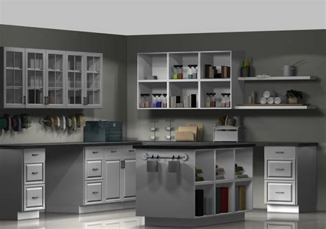 ikea kitchen cabinets design an ikea craft room with kitchen cabinets