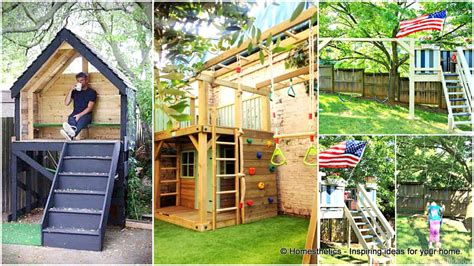 play house for backyard green roof 16 creative wooden playhouses designs for your yard