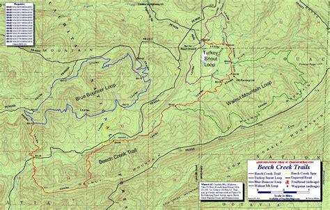 ouachita national forest map beech creek trails map ouachita mts oklahoma