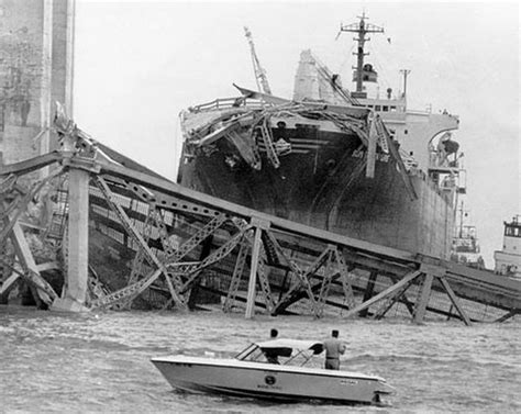 boat crash skyway bridge this day in florida history skyway bridge collapses the
