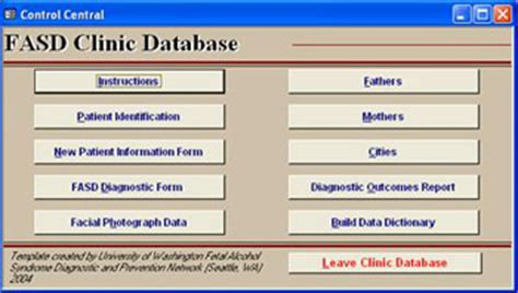 patient database template 4 digit code access database
