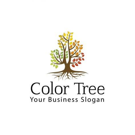 Color Tree Logo Vector Free Download Logo With Abstract Tree Vector Free