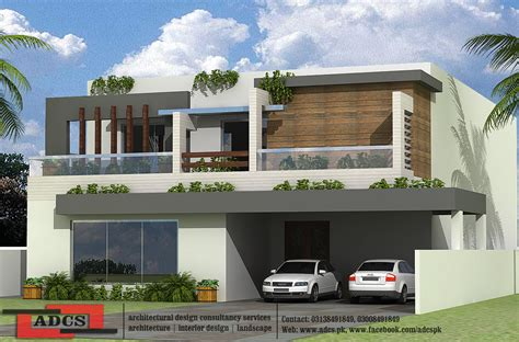d front elevation new kanal contemporary house design sketch 1 kanal house design modern house elevation modern