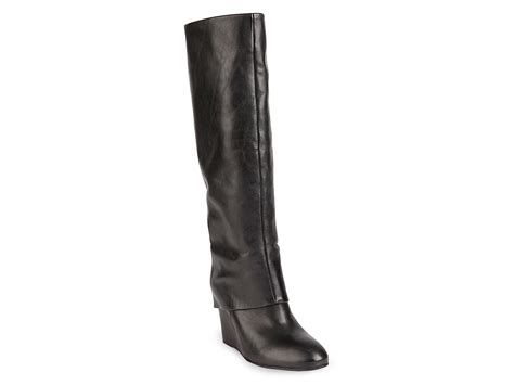 steve madden wedge boots steve madden steven by wedge boots mauraa in black lyst