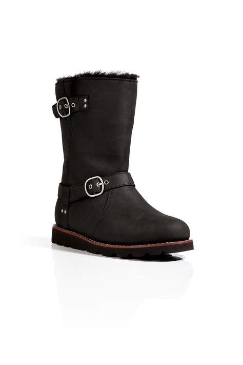 ugg leather noira boots  black  black lyst