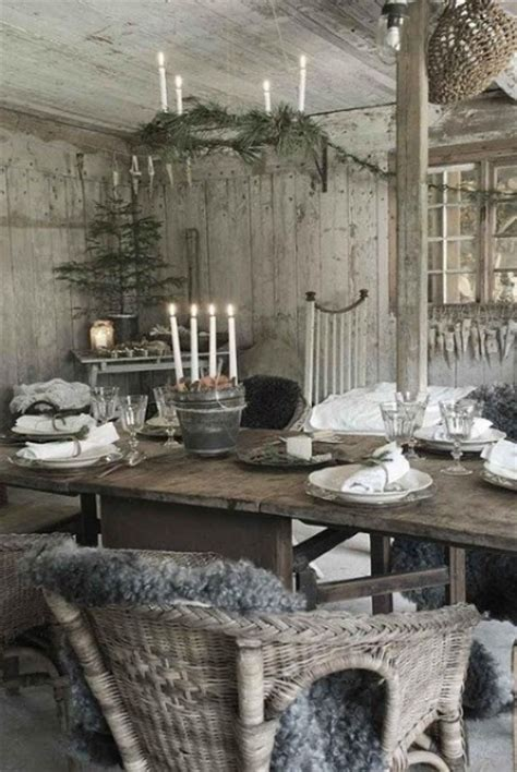 Kitchen Table Centerpiece Ideas 24 inspiring rustic christmas table settings digsdigs