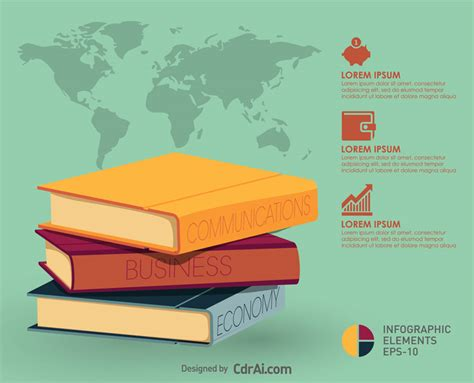 infographic book layout modern infographic book flat design free vector cdrai com