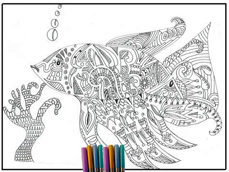 coloring pages of fish for adults fish coloring page adult coloring page coloring page