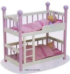 Baby Bunk Beds by Wooden Bunk Bed For Baby Dolls Baby Doll Furniture