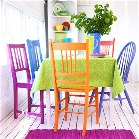 Colourful Dining Table And Chairs The Wool Acorn Colorful Dining Chairs