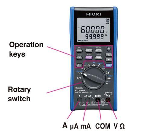 Hioki Dt4282 Digital Multimeter how to use digital multimeters dmms hioki