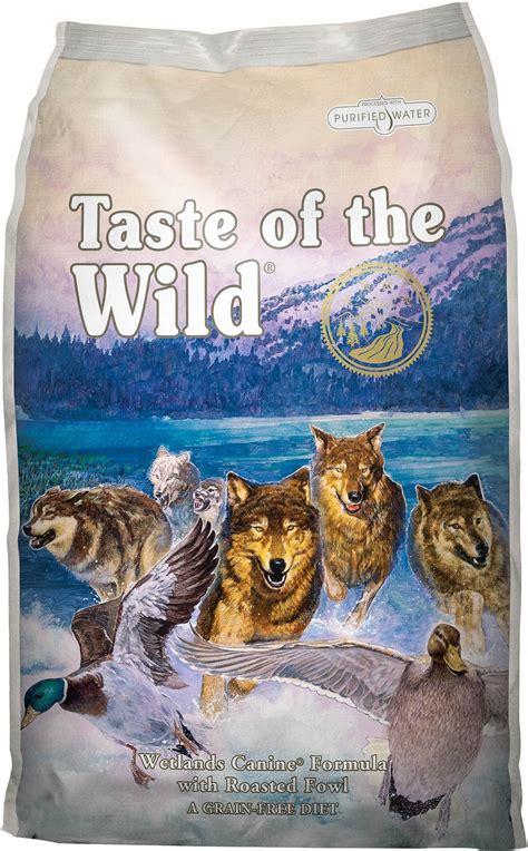 taste of food taste of the wetlands grain free food 30 lb