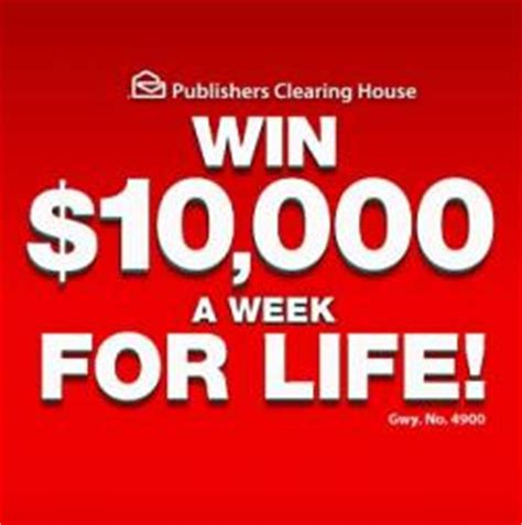 Publishers Clearing House Canada My Account - 10 000 a week for life sweepstakes