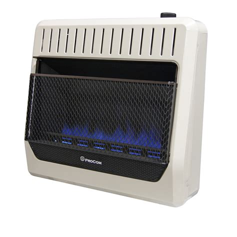 30000 btu gas unit heater ventless natural gas blue flame manual control wall heater