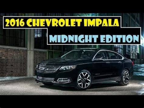 2016 chevrolet impala midnight edition, available to order
