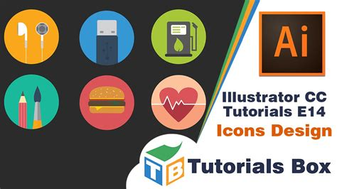 design icons in illustrator illustrator cc tutorials e014 icons design youtube