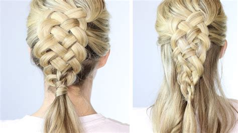 easy braid hairstyles to do yourself 5 strand dutch braid on yourself easy youtube