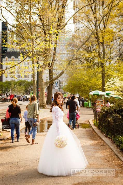 romantic  york city wedding  modwedding