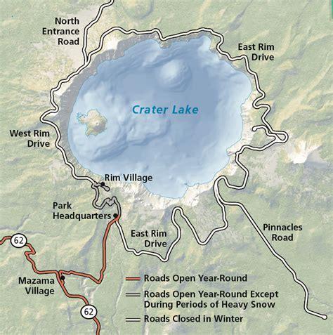 map crater lake oregon operating hours seasons crater lake national park u s