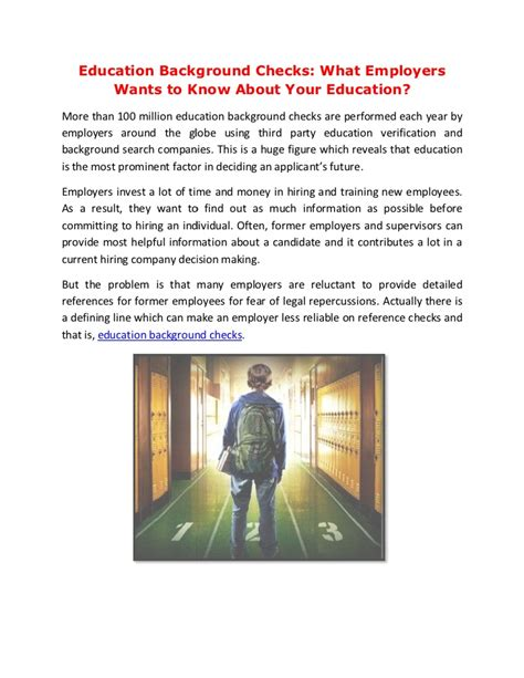 Educational Background Check Education Background Checks What Employers Wants To About Your
