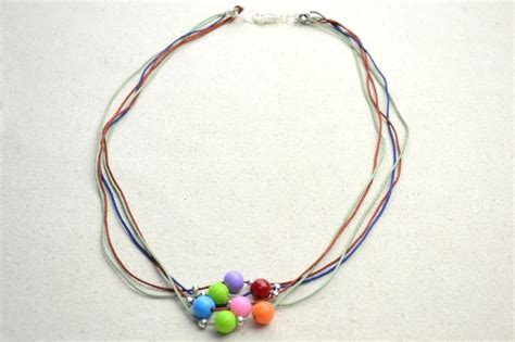 how to make string jewelry diy necklace ideas how to make a string bead necklace
