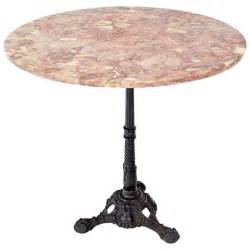 iron pedestal table cast iron base marble top pedestal table at 1stdibs