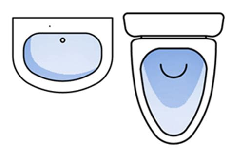 toilet symbol floor plan minimum clearance areas around bathroom fixtures