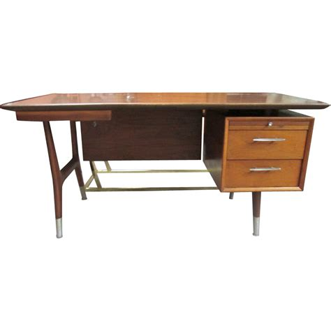 mid century modern walnut desk mid century danish modern walnut desk sold on ruby lane
