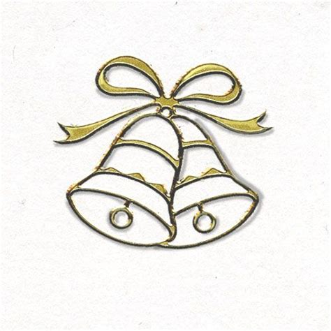 Wedding Bell wedding bells wedding envelope seals gold wedding