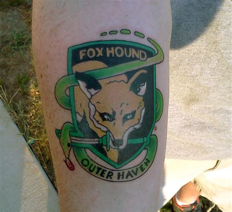 foxhound tattoo top metal gear solid foxhound logo images for