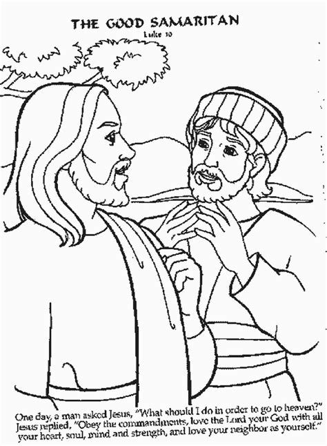 good samaritan coloring pages az coloring pages
