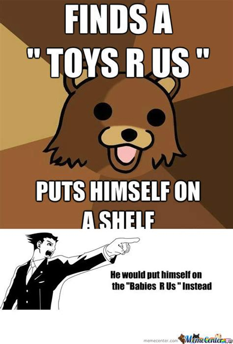 rmx pedobear toys r us by jalil39 meme center